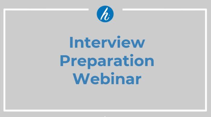 Interview Prep Webinar