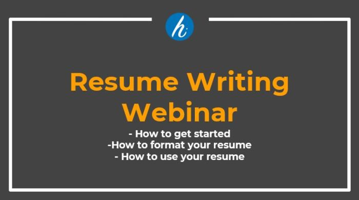 Resume Writing Webinar